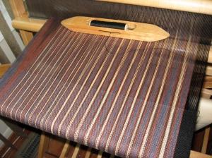 brown stripe yardage