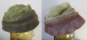 reversible green hat